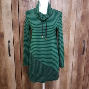 Chico's Soft Long Sleeved Cowl Neck Tunic Dress
